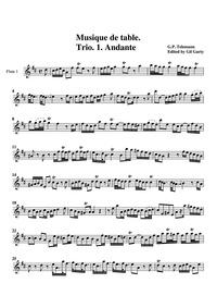 Trio Sonata, TWV 42:D5 : Flute 1 by Telemann, Georg Philipp