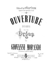 Organ Compositions : 9. Overture in E mi... by Morandi, Giovanni