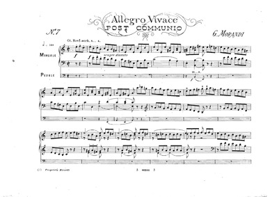 Organ Compositions : 7. Allegro vivace (... by Morandi, Giovanni