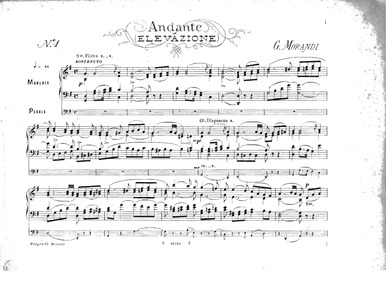 Organ Compositions : 1. Andante (Elevazi... by Morandi, Giovanni