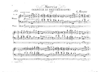 Organ Compositions : 4. Marcia (Marcia d... by Morandi, Giovanni