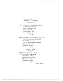 Smilin' Through : Complete score (G majo... by Penn, Arthur A.