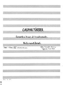 Bella movet Israel bella terris (Concert... by Förster, Kaspar