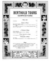 Petit duo symphonique : Cello Part by Tours, Berthold