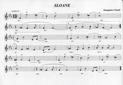 Sloane : Complete Score by Tonoli, Giampietro