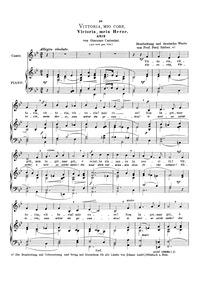 Vittoria, mio core : Complete Score by Carissimi, Giacomo