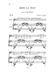 Dans la nuit : Complete Score by Hahn, Reynaldo