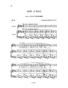 Sur l'eau : Complete Score by Hahn, Reynaldo