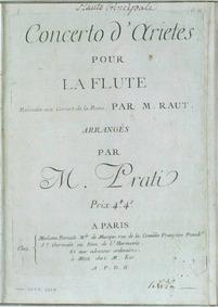 Flute Concerto in D major : Complete par... by Prati, Alessio