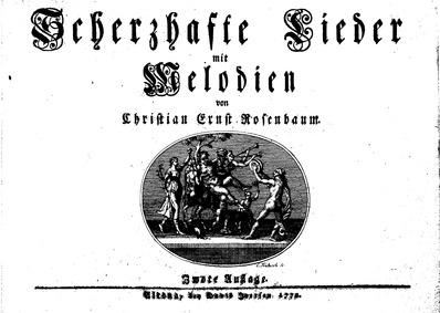 Scherzhafte Lieder mit Melodien : Comple... by Rosenbaum, Christian Ernst