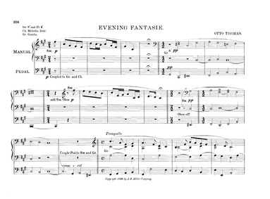 Evening Fantasie : Complete Score by Thomas, Otto