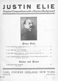 Légende créole (Haytian Legend) : Piano ... by Elie, Justin