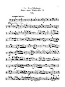 Francesca da Rimini (Франческа да Римини... Volume Op.32 ; TH 46 ; ČW 43 by Tchaikovsky, Pyotr