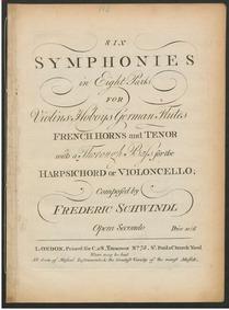 6 Symphonies, Op.2 : Horn 1 Volume Op.2 by Schwindl, Friedrich
