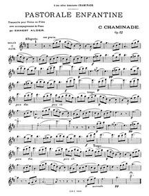 Pastorale enfantine, Op.12 : Complete Sc... Volume Op.12 by Chaminade, Cécile