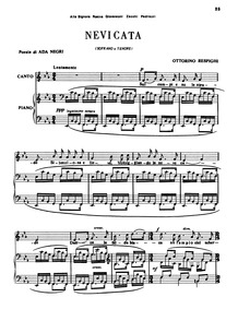 Nevicata : Complete Score (E♭ flat major... Volume P.65 by Respighi, Ottorino