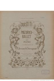 Ouistiti, Op.202 (Mazurka-ballet pour pi... Volume Op.202 by Chavagnat, Edouard