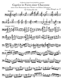 Caprice in the Form of a Chaconne after ... Volume Op.43 by Klengel, Julius