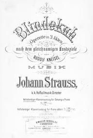 Blindekuh (Operette in drei Akten) : Com... by Strauss Jr., Johann