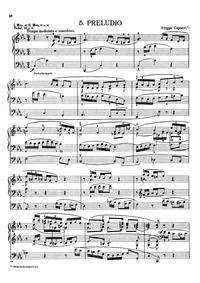 Preludio (Prelude) : Complete Score by Capocci, Filippo