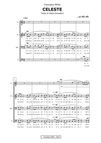 Celeste : Complete Score for Male Chorus by Milita, Francesco