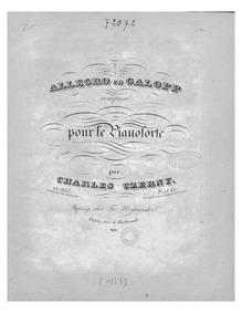 Allegro en galopp, Op.267 (Allegro in th... Volume Op.267 by Czerny, Carl