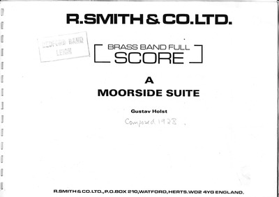 A Moorside Suite : I. Scherzo Volume H.173 by Holst, Gustav