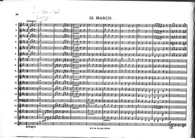 A Moorside Suite : III. March Volume H.173 by Holst, Gustav