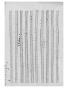 Sinfonia in D major : Violins I by Schuster, Joseph