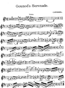 Sérénade (Berceuse) : Violin part by Gounod, Charles