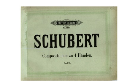 Fantasie in F minor, D.940 (Op.103) : Co... Volume Op.103/D.940 by Schubert, Franz