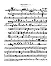 Yarra Songs Waltzes : 3 Trombones by Bial, Rudolf