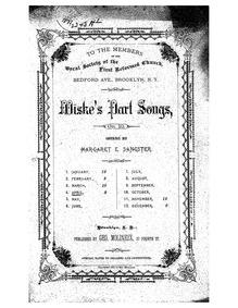 Partsongs, Op.10 : IV. April Volume Op.10 by Wiske, Charles Mortimer