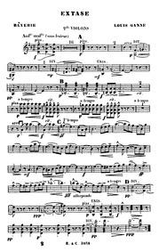 Extase (Rêverie) : Violins II by Ganne, Louis