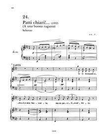 Patti chiari! : Complete Score by Tosti, Francesco Paolo