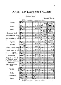 Rienzi, WWV 49 : Overture Volume WWV 49 by Wagner, Richard