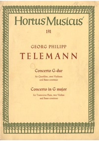 Concerto for Flute and 2 Violins in G ma... Volume TWV Anh.G1 by Telemann, Georg Philipp