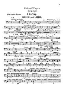 Siegfried, WWV 86C : Bass Clarinet (in ♭... by Wagner, Richard
