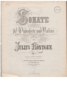 Violin Sonata, Op.1 : Complete Score Volume Op.1 by Röntgen, Julius