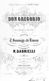 Don Gregorio Don Grégoire, ou Le précept... by Gabrielli, Nicolò