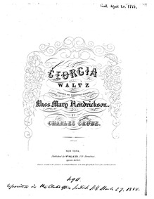 Georgia Waltz : Complete Score by Grube, Charles H.