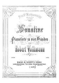 Sonatina, Op.57 (Sonatine für Pianoforte... Volume Op.57 by Volkmann, Robert