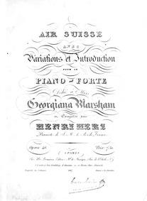 Air suisse varié (Air suisse avec variat... by Herz, Henri