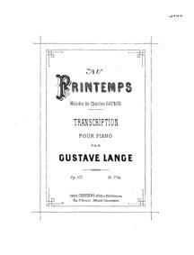Au printemps (Mélodie) : Complete Score by Gounod, Charles