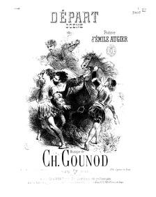 Départ (Scène) : Complete Score (E♭ flat... by Gounod, Charles
