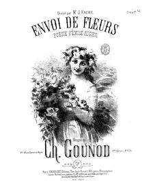 Envoi de fleurs : Complete Score (E♭ fla... by Gounod, Charles
