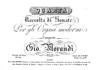 Raccolta di sonate per gli organi modern... Volume Op.20 by Morandi, Giovanni