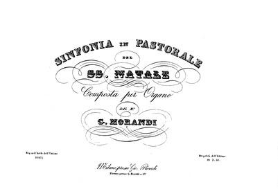 Sinfonia in Pastorale pel SS. Natale (Si... by Morandi, Giovanni