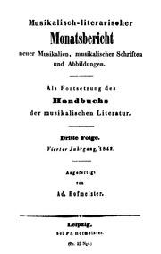 Musikalisch-literarischer Monatsbericht ... by Hofmeister, Friedrich