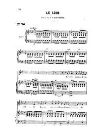 Le soir : Complete Score (E♭ flat major) by Gounod, Charles